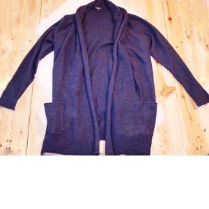 Babaton Blue/Green Wool & Cashmere Cardigan Large